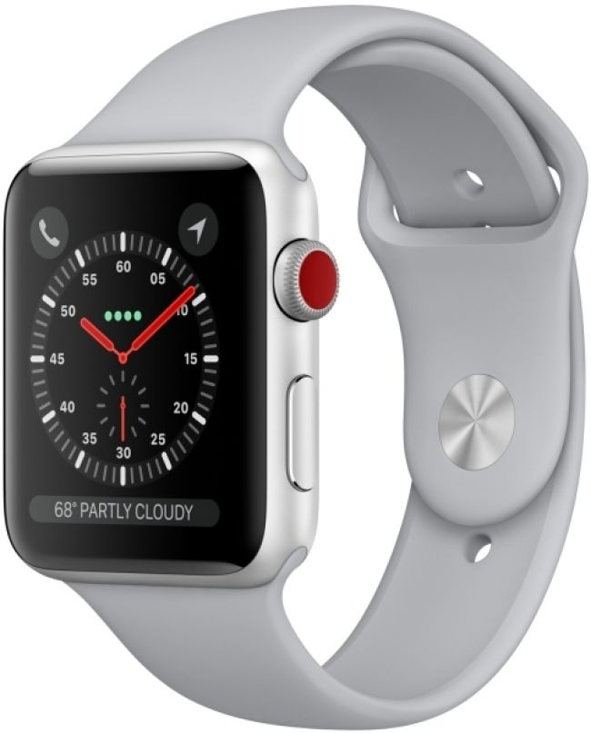 Smart Часовник Apple WATCH 3 LTE - 42MM SILVER ALUMINUM CASE WITH FOG SPORT BAND- MQKM2