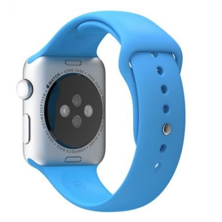 Цена на Apple Watch Aluminum Silver Case Blue Sport Band 42mm - MLC52