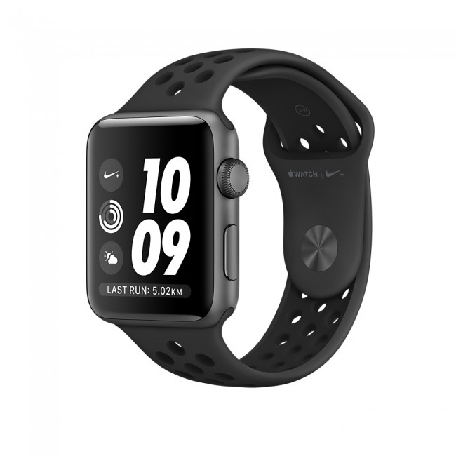 Smart Часовник Apple Watch Nike+ 42mm Space Gray Aluminum Case with Anthracite/Black Nike Sport Band MQ182