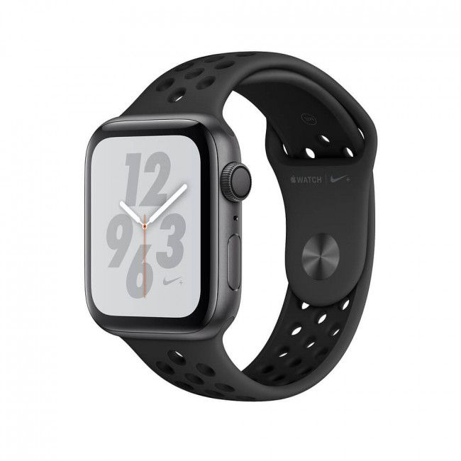 Smart Watch Apple WATCH Nike+ Series 4 GPS 44mm Space Gray Aluminum Case with Anthracite/Black Nike Sport Band- MU6L2