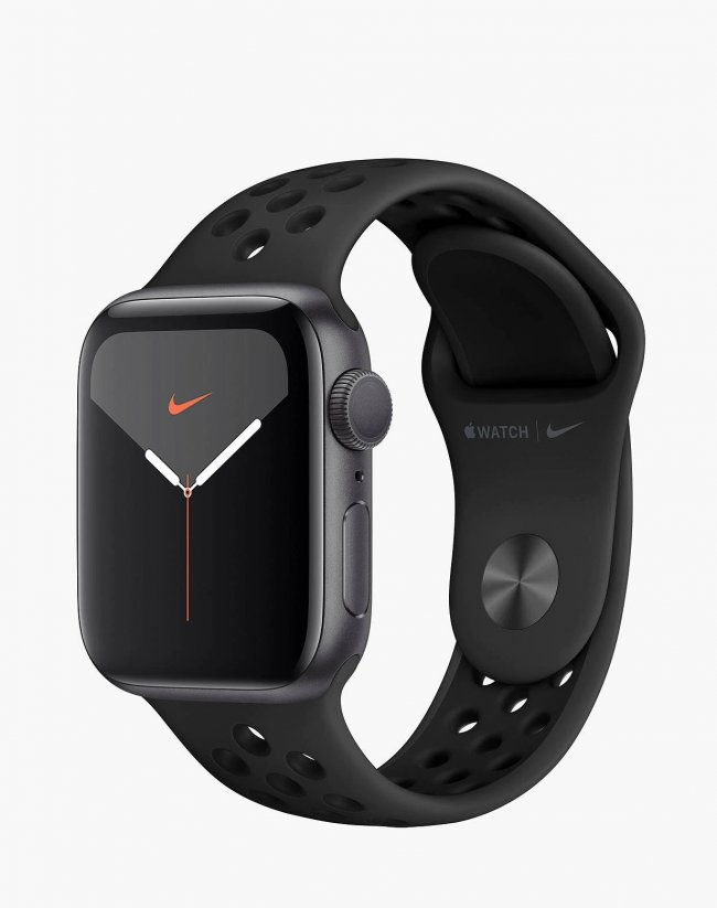 Smart Watch Apple Watch Nike Series 5 GPS, 40mm Space Grey Aluminium Case with Anthracite/Black Nike Sport Band MX3T2