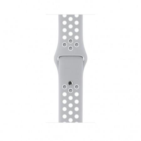 Снимки на Apple Watch NIKE+ SILVER ALUMINUM FLAT SILVER/WHITE NIKE SPORT 38MM - MNNQ2