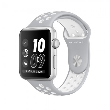 Smart Часовник Apple Watch NIKE+ SILVER ALUMINUM FLAT SILVER/WHITE NIKE SPORT 42MM - MNNT2