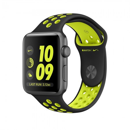 Smart Часовник Apple Watch NIKE+  SPACE GRAY ALUMINUM BLACK/VOLT NIKE SPORT 42MM - MP0A2
