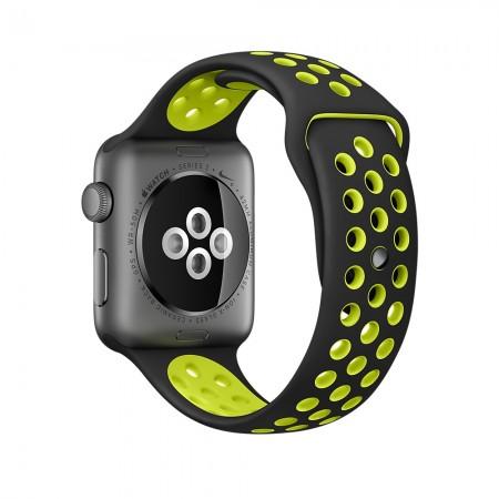 Снимки на Apple Watch NIKE+  SPACE GRAY ALUMINUM BLACK/VOLT NIKE SPORT 42MM - MP0A2