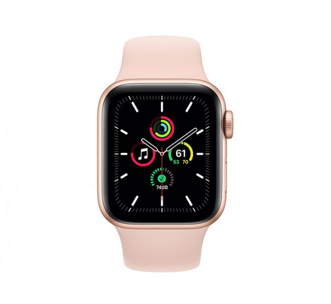 Smart Watch Apple Watch SE GPS, 40mm Gold Aluminium Case with Pink Sand Sport Band - MYDN2