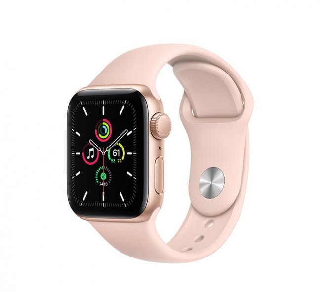 Smart Watch Apple Watch SE GPS, 44mm Gold Aluminium Case with Pink Sand Sport Band - MYDR2
