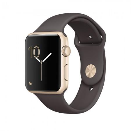 Smart Часовник Apple Watch Series 2  Aluminium Gold Case Cocoa Sport Band 42mm - MNPN2
