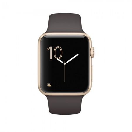 Цена на Apple Watch Series 2  Aluminium Gold Case Cocoa Sport Band 42mm - MNPN2