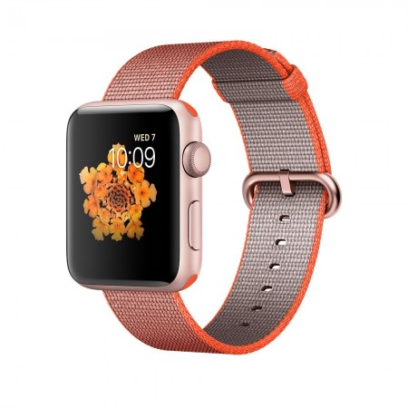 Smart Watch Apple Watch Series 2  Aluminium Rose Gold Case Anthracite Woven Nylon Band 42mm - MNPM2