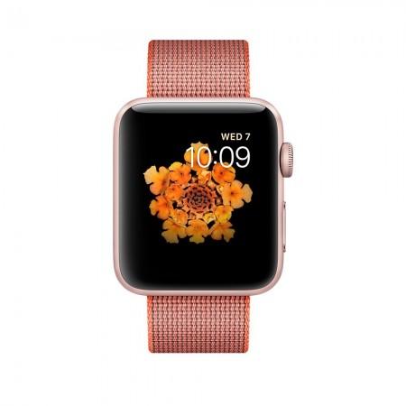 Цена на Apple Watch Series 2  Aluminium Rose Gold Case Anthracite Woven Nylon Band 42mm - MNPM2