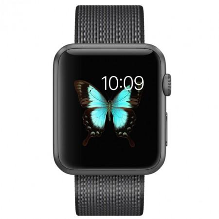Цена на Apple Watch Series 2 Black Woven Nylon Space Gray Aluminum Case 42mm - MMFR2