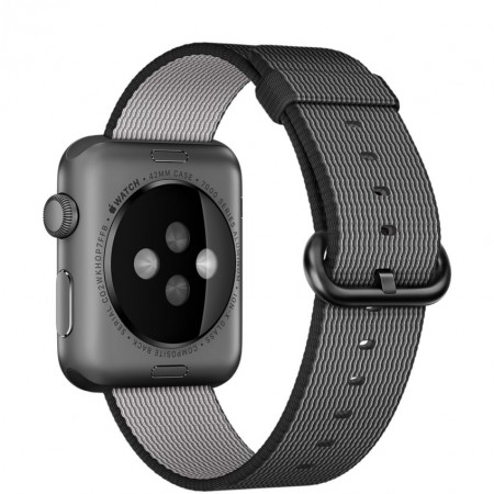 Цена Apple Watch Series 2 Black Woven Nylon Space Gray Aluminum Case 42mm - MMFR2