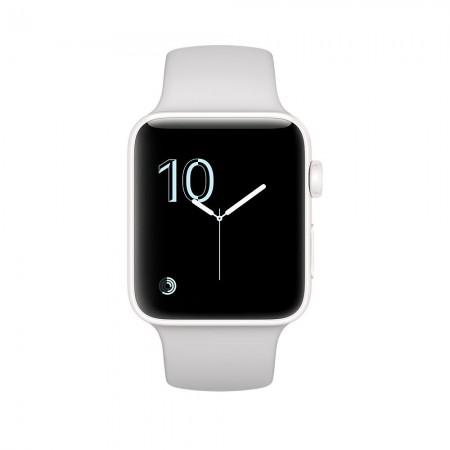 Цена на Apple Watch Series 2  Ceramic Case Cloud Sport Band 42mm -  MNPQ2