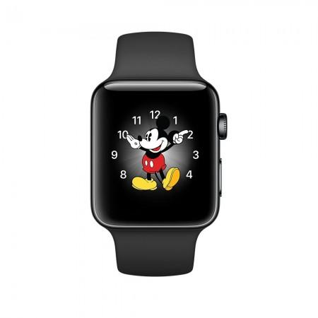 Цена на Apple Watch Series 2  Space Black Stainless Steel Case Black Sport Band 38mm - MP492