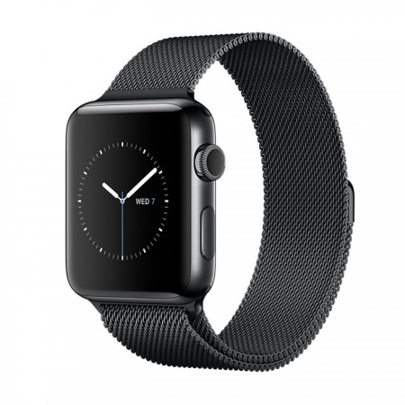 Smart Часовник Apple Watch Series 2  Stainless Steel Black Case Black Milanese Loop 42mm - MNQ12