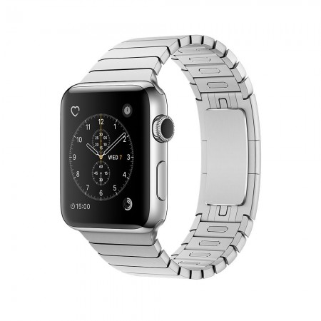 Apple Watch Series 2  Stainless Steel Case Silver Link Bracelet 42mm - MNPT2