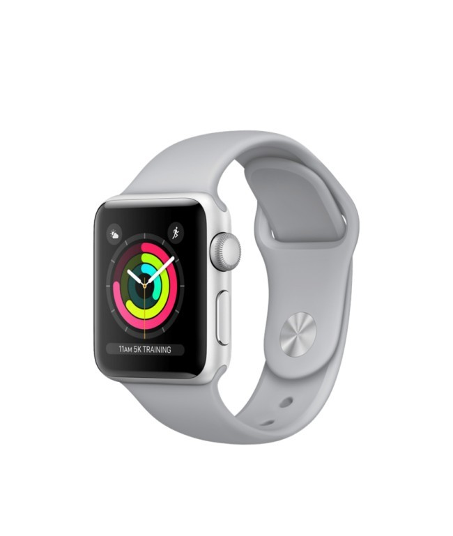 Smart Часовник Apple Watch Series 3 (GPS), 42mm Silver Aluminum Case with Fog Sport Band - Silver Aluminum MQL02