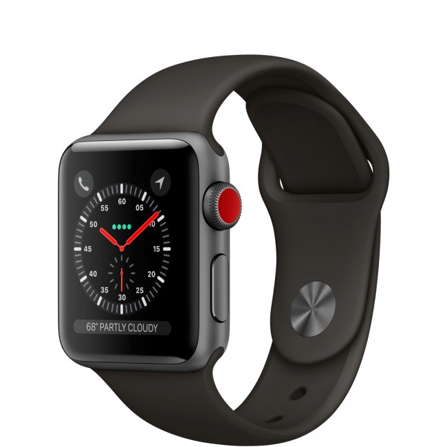 Smart Часовник Apple Watch Series 3 GPS + Cellular 42mm Space Gray Aluminum Case with Black Sport Band MQK22