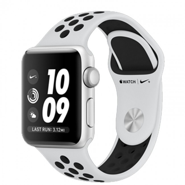 Smart Часовник Apple Watch Series 3 Nike+ GPS- 42mm Silver Aluminium Case with pure Platinum/Black Nike Sport Band MQL32