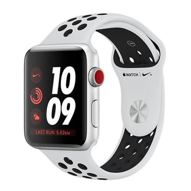 Smart Watch Apple WATCH SERIES 3 NIKE+ GPS+CELLULAR 38MM SILVER ALUMINUM CASE WITH NIKE SPORT BAND - MQM72