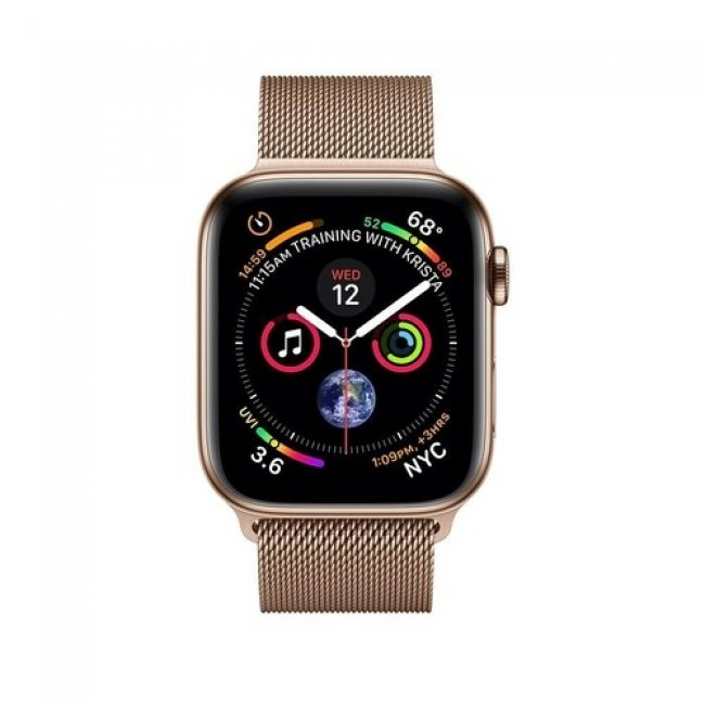 Smart Watch Apple Watch Series 4 LTE Gold loop 44mm Gold Stainless Steel- MTX52