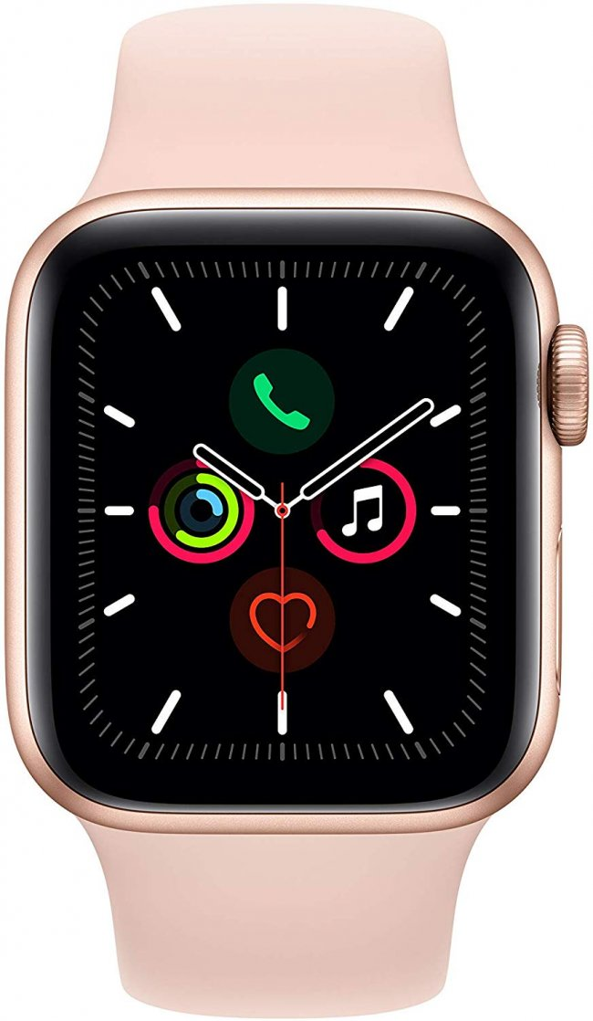 Smart Watch Apple Watch Series 5 - 40mm   Gold Aluminium  with Pink Sand Sport Band	MWV72