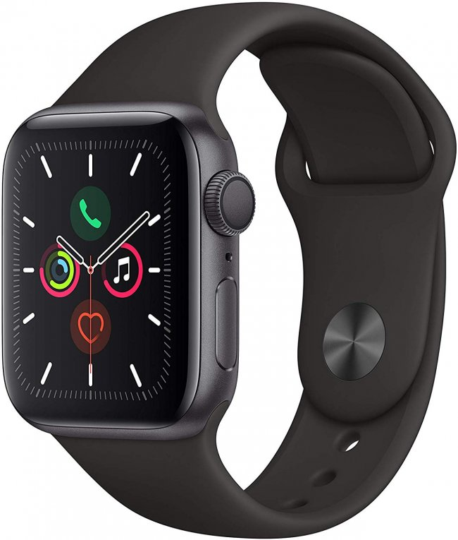 Smart Watch Apple Watch Series 5  - 40mm  Space Grey Aluminium with Black Sport Band MWV82