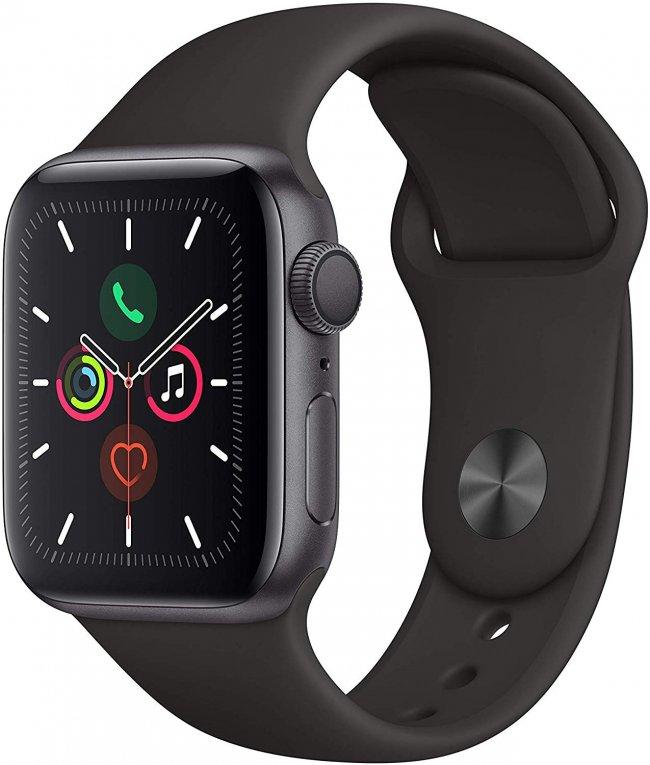 Smart Watch Apple Watch Series 5  - 40mm  Space Grey Aluminium with Black Sport Band MWV82