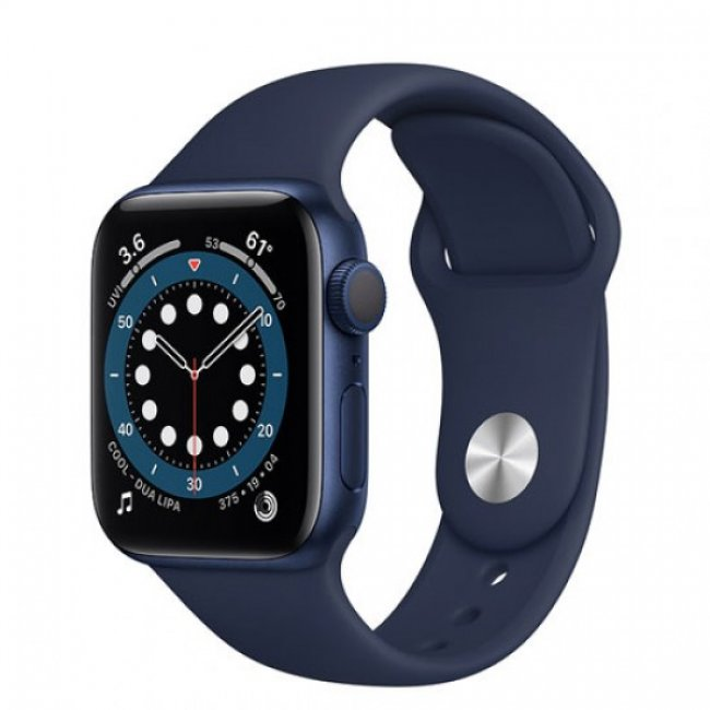 Smart Watch Apple Watch Series 6 GPS, 40mm Blue Aluminium Case with Deep Navy Sport Band MG143