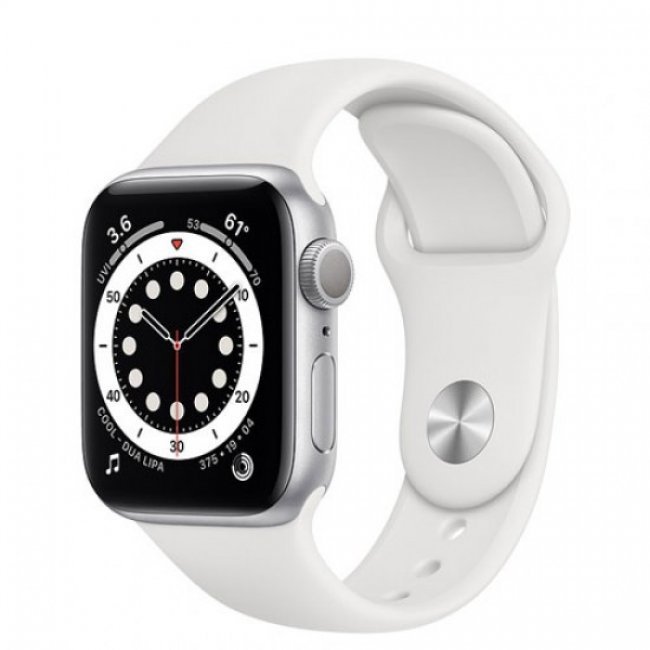 Smart Watch Apple Watch Series 6 GPS, 40mm Silver Aluminium Case with White Sport Band MG283