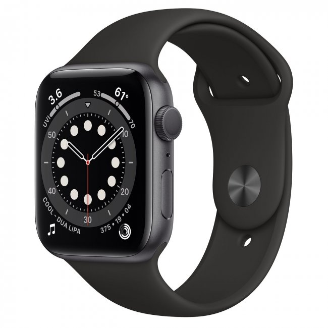 Smart Watch Apple Watch Series 6 GPS, 40mm Space Gray Aluminium Case with Black Sport Band MG133