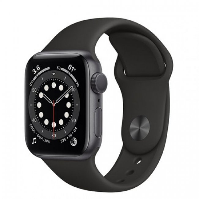 Smart Watch Apple Watch Series 6 GPS, 44mm Space Gray Aluminium Case with Black Sport Band M00H3