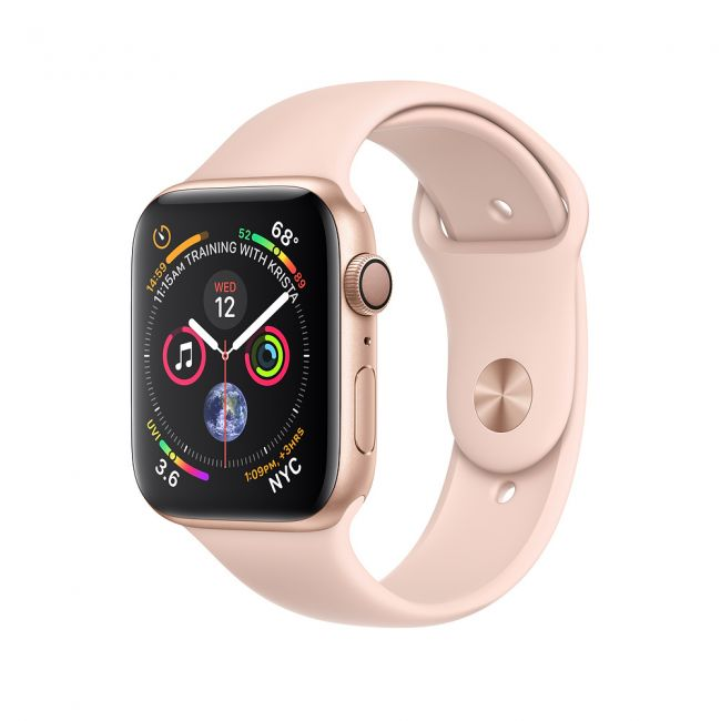 Smart Watch Apple Watch Series4 40mm Gold Aluminum Case with Pink Sand Sport Band GPS+ Cellular MTVG2