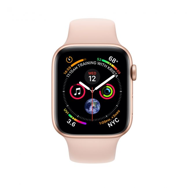 Smart Watch Apple Watch Series4 40mm Gold Aluminum Case with Pink Sand Sport Band GPS MU682