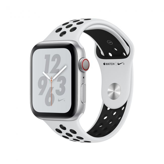 Smart Watch Apple Watch Series4 40mm, Nike+ Silver Aluminum Case with Pure Platinum/Black Nike Sport Band MU6H2