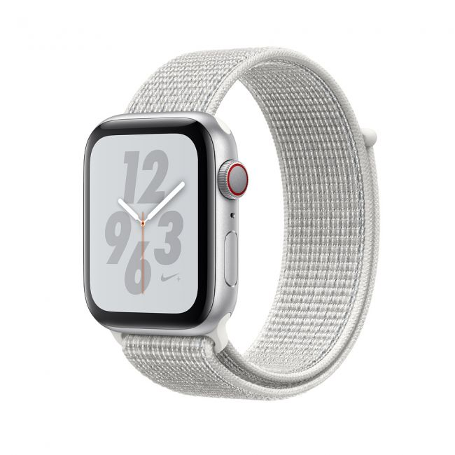Smart Watch Apple Watch Series4 40mm, Nike+ Silver Aluminum Case with Summit White Nike Sport Loop MU7F2