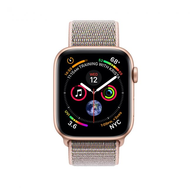 Smart Watch Apple Watch Series4 44mm Gold Aluminum Case with Pink Sand Sport Loop GPS MU6G2