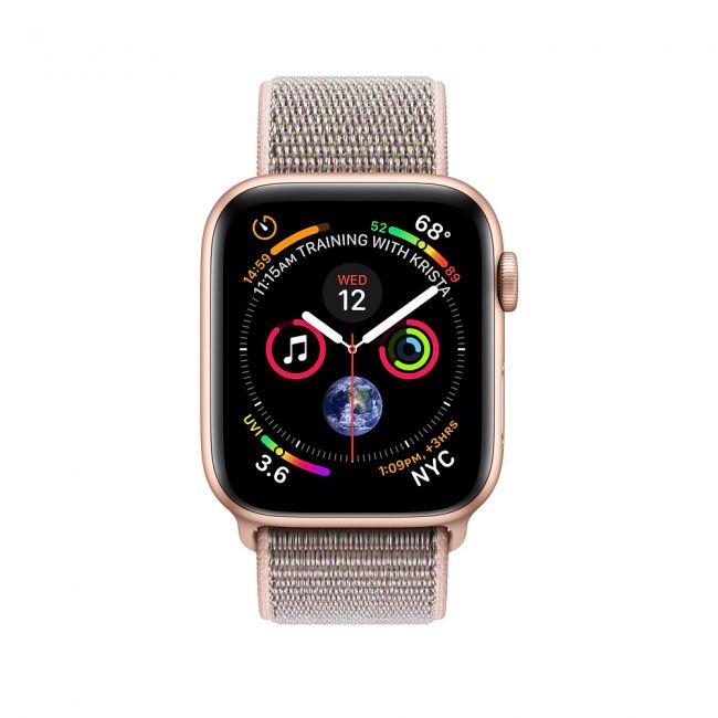 Smart Часовник, Smart Watch, Умен Часовник Apple Watch Series4 44mm Gold Aluminum Case with Pink Sand Sport Loop GPS MU6G2