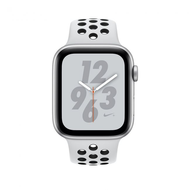 Smart Часовник Apple Watch Series4 44mm, Nike+ Silver Aluminum Case with Pure Platinum/Black Nike Sport Band