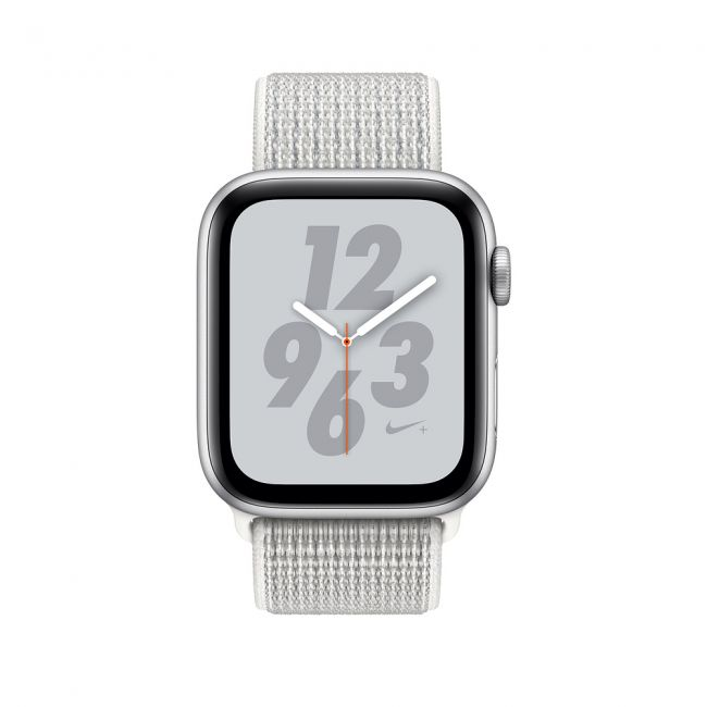 Smart Часовник Apple Watch Series4 44mm, Nike+ Silver Aluminum Case with Summit White Nike Sport Loop