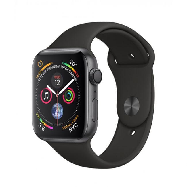 Smart Часовник Apple Watch Series4 44mm, Space Gray, Aluminum Case with Black Sport Band, GPS - MU6D2