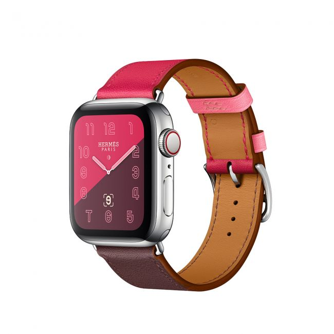 Smart Watch Apple Watch Series4 Hermès Stainless Steel Case with Bordeaux/Rose Extrêm GPS + Cellular