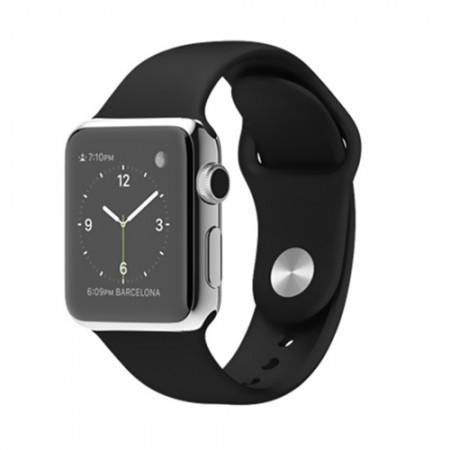 Smart Часовник Apple Watch Stainless Steel Case Black Sport Band 38mm - MJ2Y2