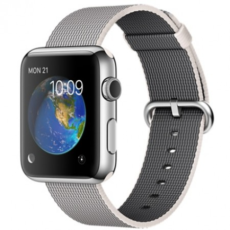 Smart Часовник Apple Watch Stainless Steel Case Pearl Woven Nylon 42mm  MMG02