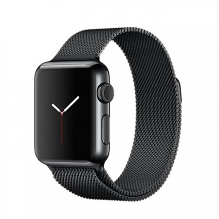 Smart Watch Apple Watch Stainless Steel Case Space Black Milanese Loop 38mm -  MMFK2