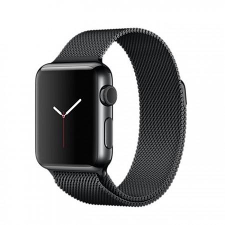 Apple Watch Stainless Steel Case Space Black Milanese Loop 38mm -  MMFK2
