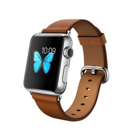 Smart Часовник Apple Watch Stainless Steel Saddle Brown Classic Buckle Silver 38mm - MMF7
