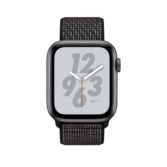 Smart Watch Apple WatchSeries4 40 mm, Nike+ Space Gray Aluminum Case with Black Nike Sport Loop MU7G2