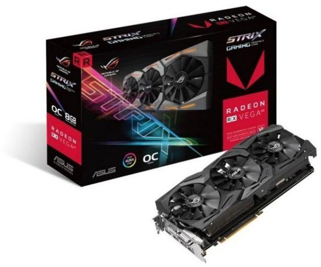 Видеокарта ASUS Radeon RX VEGA64 OC 8GB HBM2 2048bit PCIe (ROG-STRIX-RXVEGA64-O8G-GAMING)